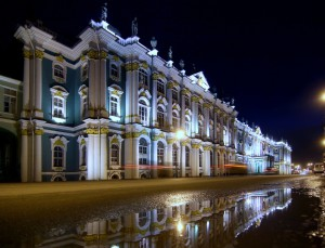 Winter Palace and Hermitage Museum in St.Petersburg Russia