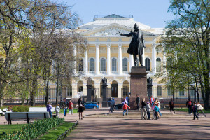 Arts Square, Statue of Alexander Pushkin and Russian Museum