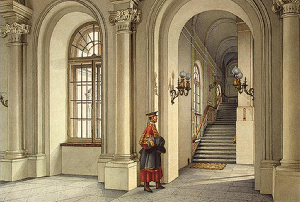 Отель Эрмитаж - историческая форма дворецких